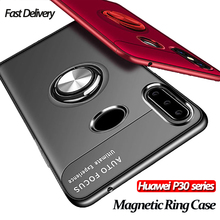 Luxury Magnetic Case For Huawei P 30 Lite car phone holder P30 Pro Bumper Cover huawei p30 lite magnetic ring case