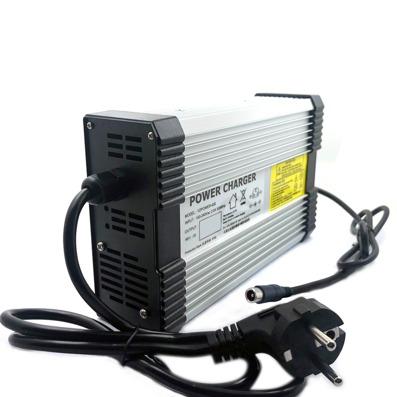 YZPOWER 100.8V 4A 4.5A Lithium Battery Charger Suitable for 88.8V 25S lithium battery packAluminum housing and optional plug