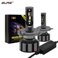 EURS H4 led H7 APP di Controllo Bluetooth RGB HA CONDOTTO il Faro H1 H3 H8 H11 H8 H9 9005 9006 D2S d3S 9004 9007 H13 Auto Del Faro Della Lampadina