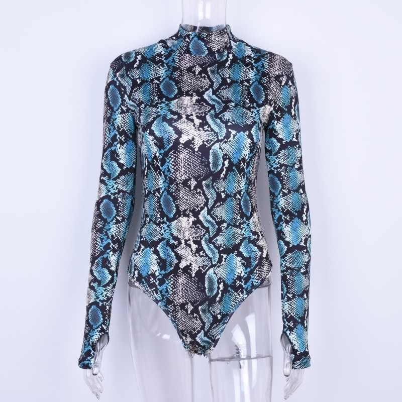 2020 Europa Amerika Hot Verkoop Lente Nieuwe Casual Lange Mouwen O-hals Camouflage Print Skinny Bodysuit Blauw Bruin Vrouwen Kleding
