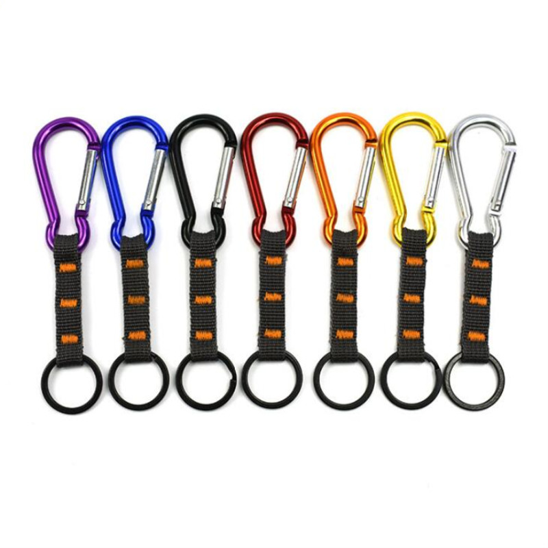 1pc Multifunction Carabiners Outdoor Tool Equipment Key Chain Ring Aluminum Alloy Carabiner Climbing Hiking Accessories