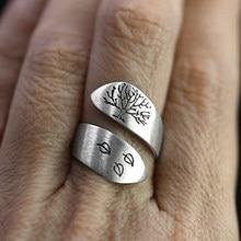 خاتم عتيق يد مفتوح بوهيمي رهابسودي ممثل قيادي نفس النمط خواتم نقش قابل للتعديل اشجار اوراق الروك رول مجوهرات 30M821