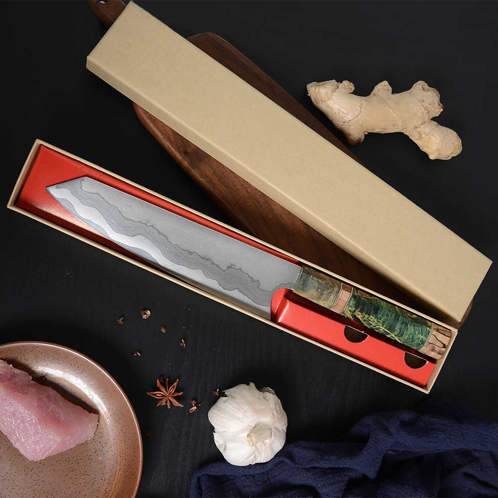 Sowoll 8 ''ножи накири шеф-повара из дамасской стали, Подарочная коробка, деревянная ручка, кухонный нож, профессиональный нож Kiritsuke Gyuto, слайсер