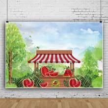 Фон для фотосъемки yeele с изображением арбуза деревянного дома