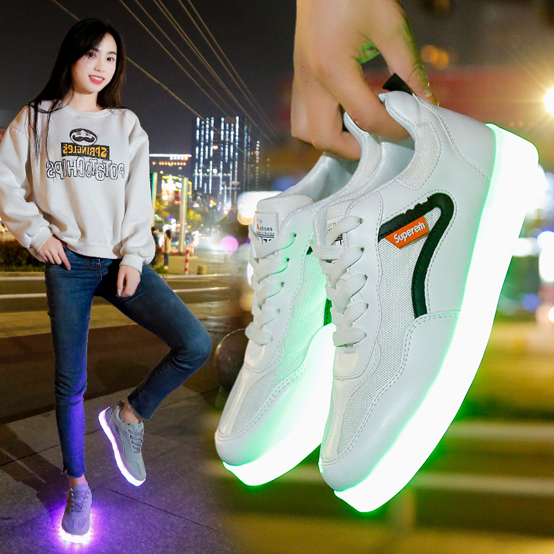 2020 Newest Luminous Sneakers LED Shoes Kids Adult Glowing USB Charge Casual Children's Shoes