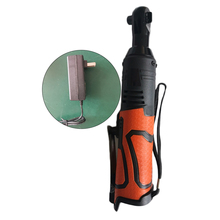 Электрический гаечный ключ 18 в 55 нм, 3/8 дюйма, электрический беспроводной угловой ключ с правым храповым механизмом с зарядным устройством, электроинструмент, оранжевые аксессуары