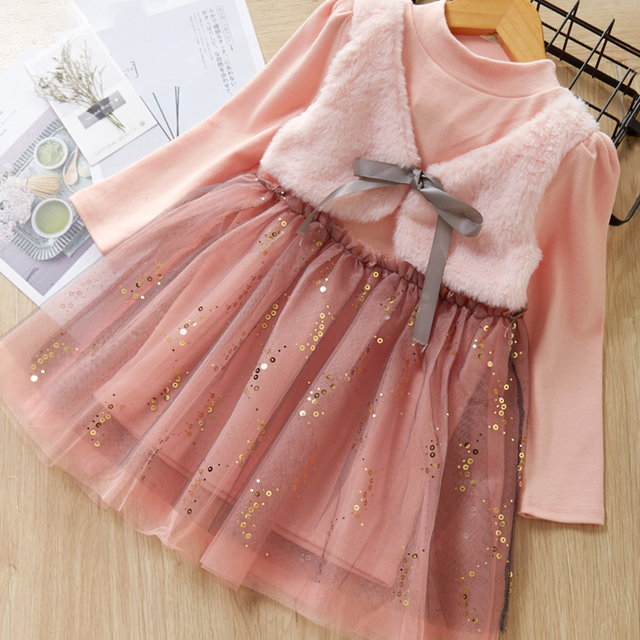 Embroidered Lace Star Stitching Mesh Beautiful Princess Clothes Costume Toddler Dresses