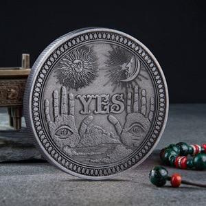 Монета США Morgan Dollar Yes/No Ouija, готическое решение, монета, все видящие глаза или Ангел Смерти, никель