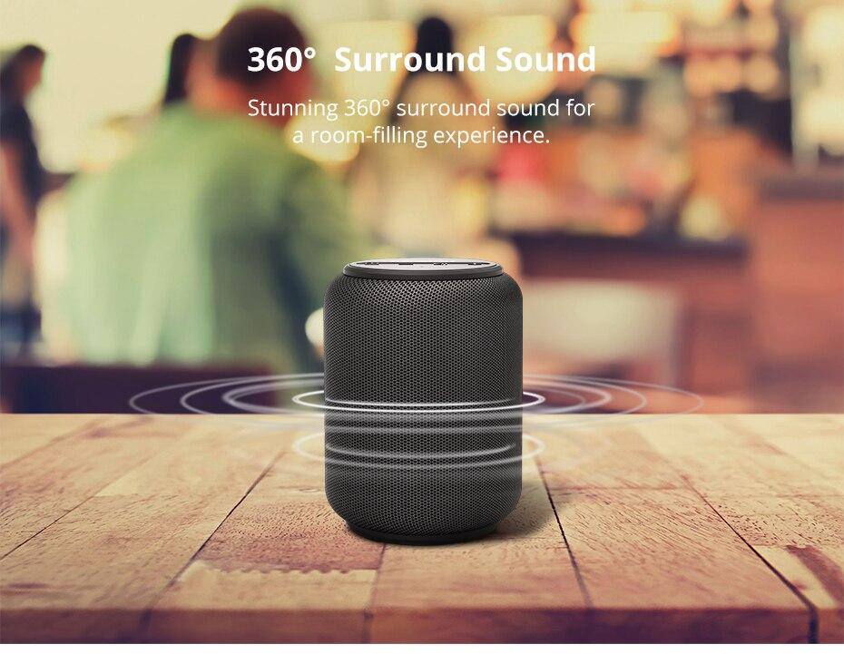 Tronsmart T6 Mini TWS Bluetooth 5.0 Speaker IPX6 Waterproof Wireless Speaker 24 Hours Play Time Outdoor Portable Speaker 15W (1)