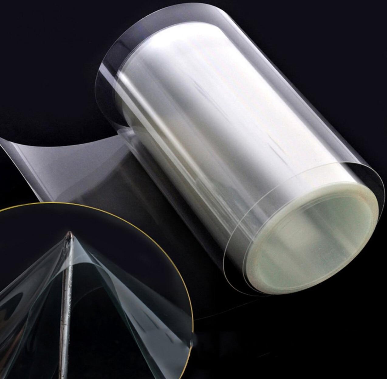Защитная пленка для кожи носорога 10/20/30/40/50x100 см, автомобильный капот, бампер, стикер для защиты краски, устойчивый к царапинам Прозрачный Ви...