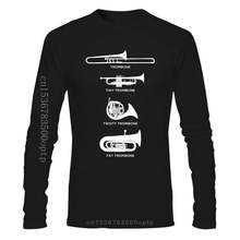 Funny Types Of Trombone Marching Band T Shirt Gift Create Basic Unique Pictures O Neck Cotton Summer Style Shirt