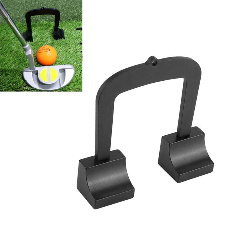 Golf Putter Goal-Golf Putting Aim Gate Golf Target Kit Aluminum Alloy Target Parts Set Accessories