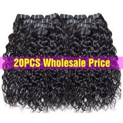 Оптовая продажа волнистые пряди оптом человеческие волосы пряди предложения не Реми Weft волосы для наращивания на заколках перуанские накл...