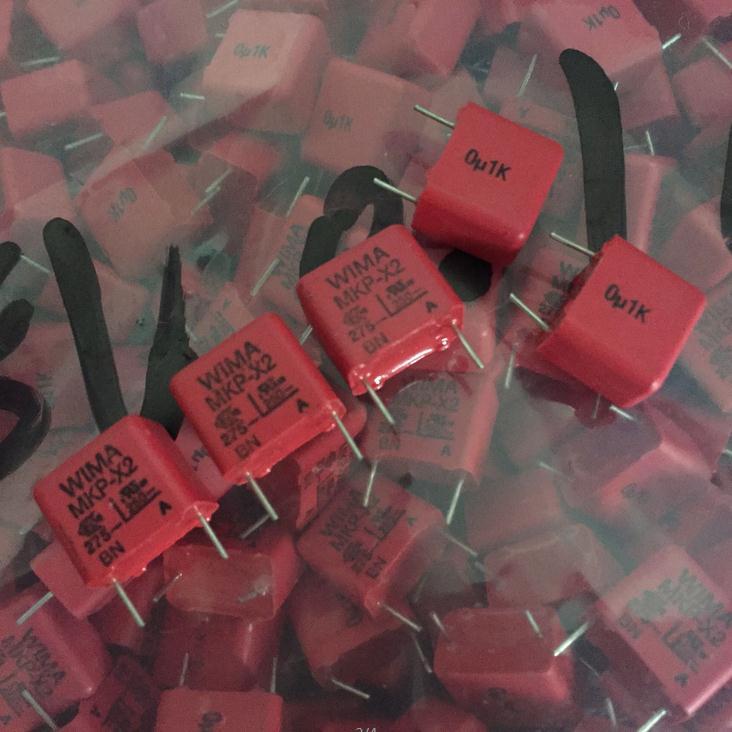 Heißer verkauf 10 stücke Deutschland WIMA MKP-X2 275VAC 0,1 UF 275VAC 104 100NF P 15mm de Audio de kondensator kostenloser
