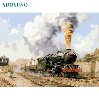 The Royal Duchy Steam Train Paint By Numbers Kit Adults