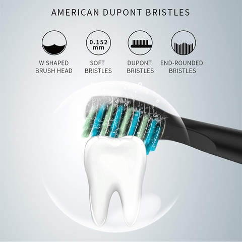 seago sonic escova de dentes eletrica adulto