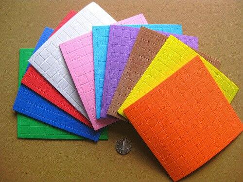 Number Statistics With 1 Cm² PCs Small Square PCs Plastic Sponge Sticker Learn Flat Square