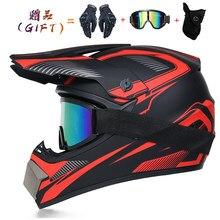 Envío de 3 piezas de regalo de casco de motocicleta casco todoterreno para niños bicicleta cuesta abajo AM DH casco de Cruz capacidad motocross casco