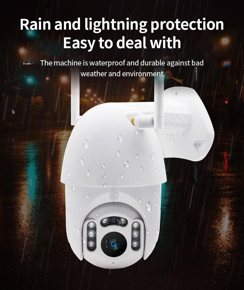 Hbf3efd1175b34b7682ffa32c4b554995c Q1 Outdoor PTZ Wireless IP Camera Move Detection Infrared Night Vision Waterproof Surveillance RJ45/Wifi Dome CCTV Camera