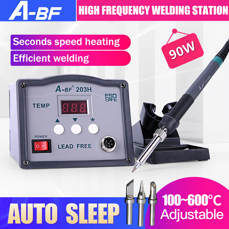 A-BF Soldering Station 203H 90W 205H 150W High Frequency Eddy Current Soldering Station Lead Free Solder Soldering Iron Station