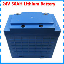 1000W 24V 50AH lithium battery pack high capacity 50AH 24V with waterproof case use 26650 cell 50A BMS 5A Charger(China)