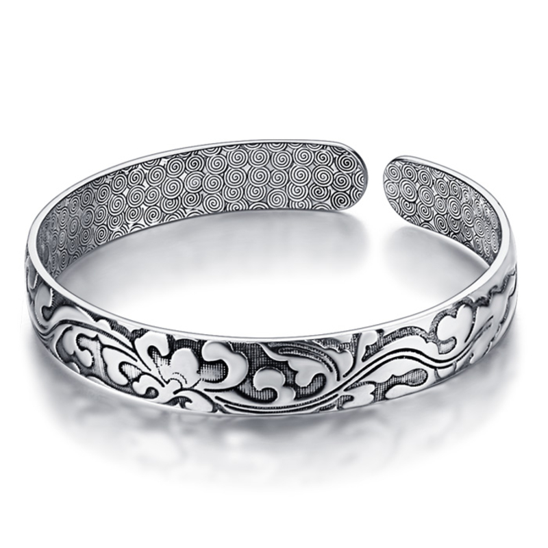 Silver restoring ancient ways women bracelet New solid 925 sterling - Fine Jewelry