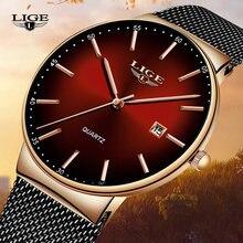 Часы наручные lige женские кварцевые брендовые Роскошные спортивные