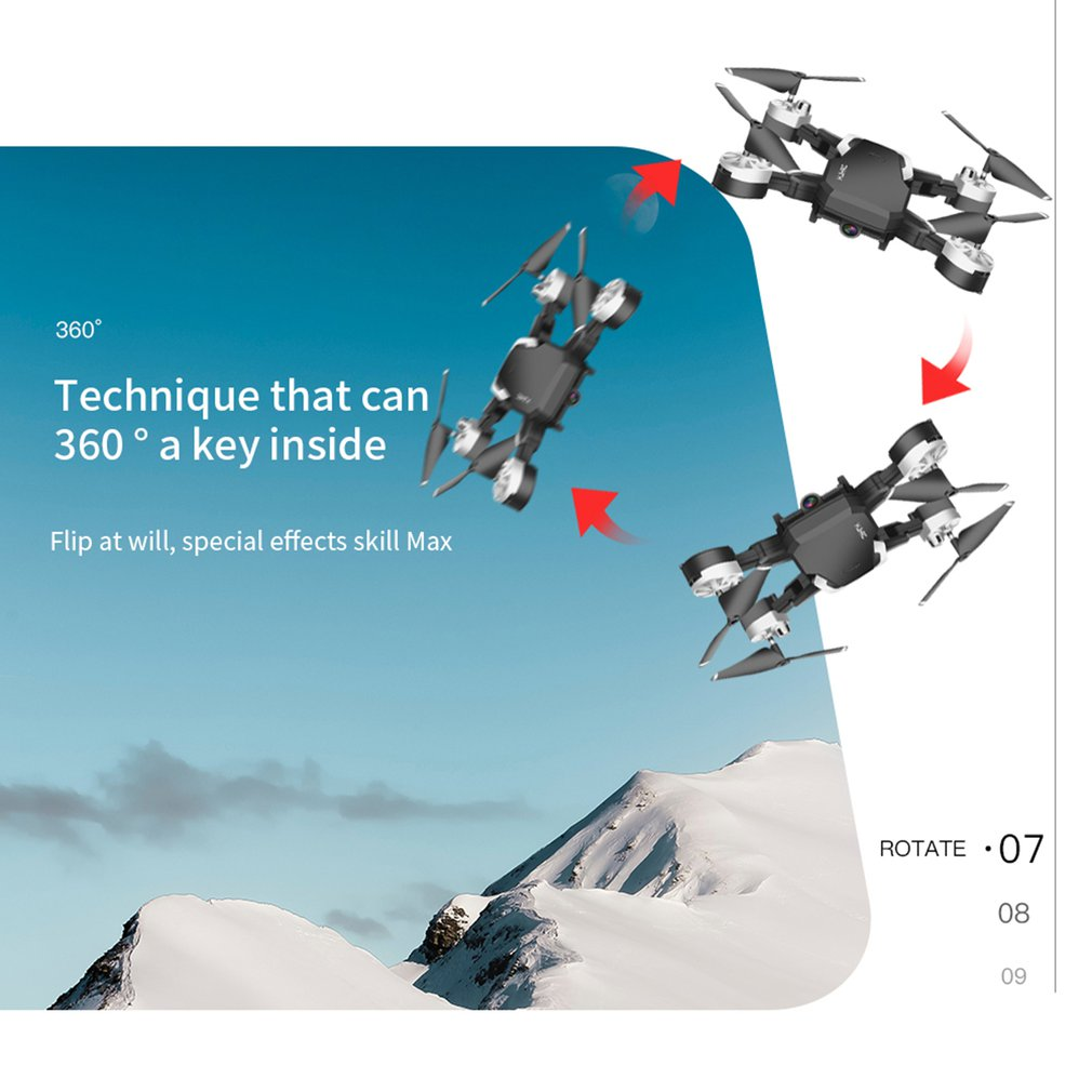 lowest price HJ28 Foldable RC Drone 4 Channels Wifi 2MP 5MP FPV Camera Drone Altitude Hold Gesture Photo Video RC Quadcopter