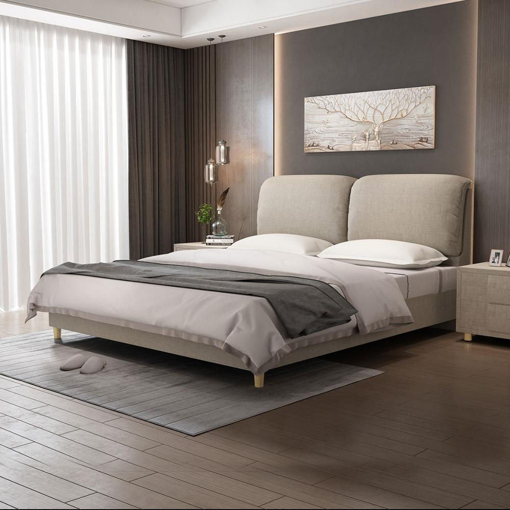 RAMA DYMASTY  fashion fabric soft bed modern design bed bett  cama fashion king/queen size bedroom furniture Beds     - title=