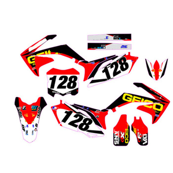 10-13 CRF250R Customized Personlized kit Team Fairing Graphics Stickers Decal Set For Honda CRF250 R CRF250 2010 2011 2012 2013