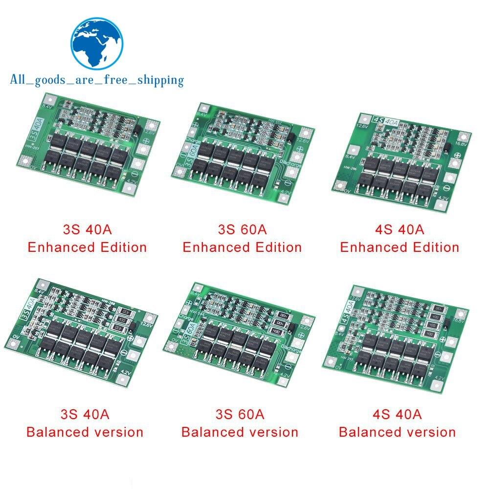 3S/4S 40A 60A Li-ion Lithium Battery Charger Protection Board 18650 BMS For Drill Motor 11.1V 12.6V/14.8V 16.8V Enhance/Balance(China)