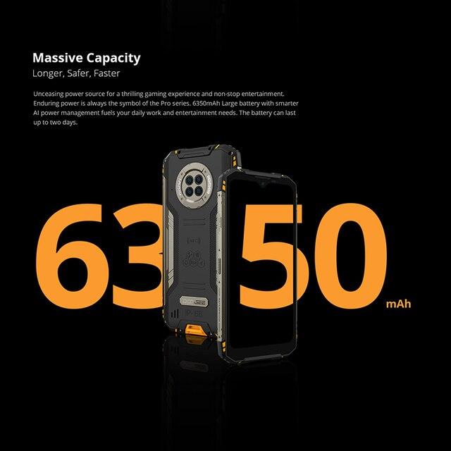 DOOGEE S96 Pro 8GB+128GB Rugged Phone 48MP Camera 20MP Infrared Night Vision Smartphone Helio G90 6350mAh Waterproof Octa Core 3
