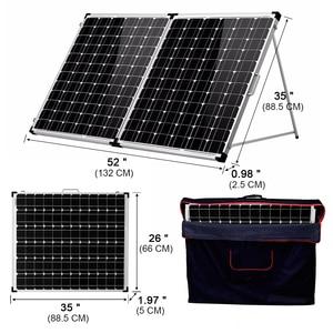 Image 3 - Dokio 200w (2 pces x 100w) painel solar dobrável china + 10a 12v/24v controlador dobrável painel solar pilha/sistema carregador painel solar