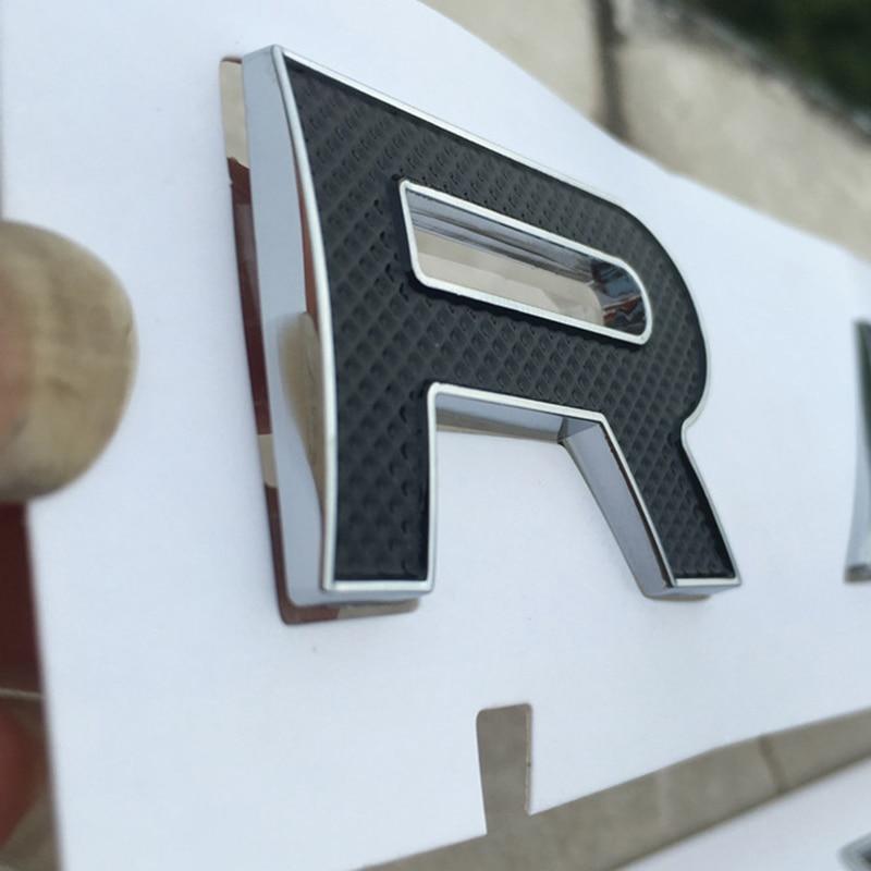 DIY Letras Emblema Emblema para LAND RANGE ROVER Autobiografia SV Remontagem Carro ESPORTE Estilo Oriente Capa Trunk Etiqueta Do Logotipo