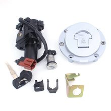 1 Set Motorcycle Ignition Switch Lock Fuel Gas Cap Key For Honda CBR600RR 2007-2013 CBR1000RR 2008-2014 Motor Accessories(China)