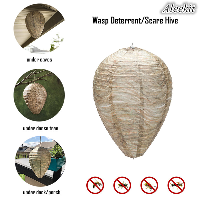 Aleekit Hanging Wasp Bee Insect Fly Trap Simulated Wasp Nest Effective Expel Pest Control Natural And Safe Non-Toxic Dropship