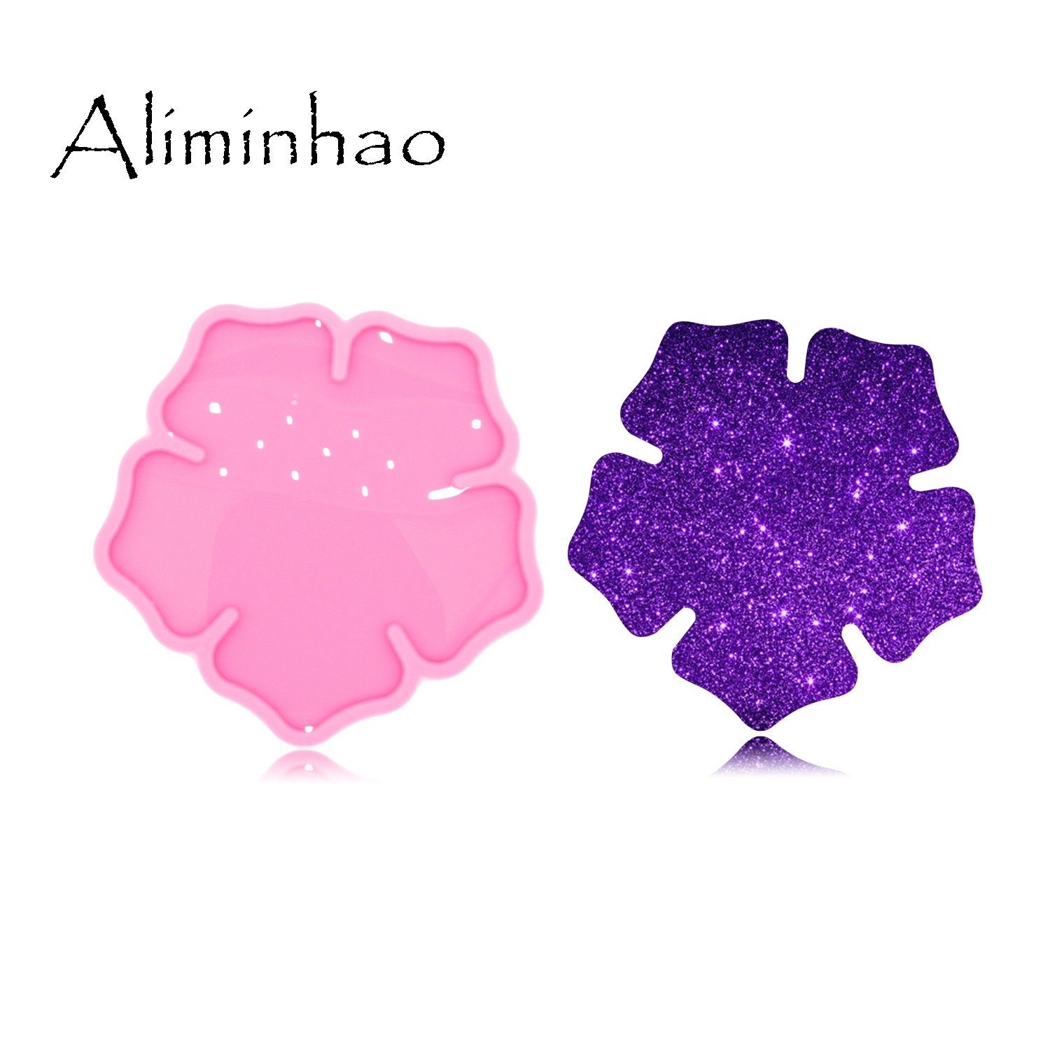 DY0488 Shiny High Quality Flowers Shape Silicone Epoxy Resin Molds DIY Geode Coaster Agate Mould