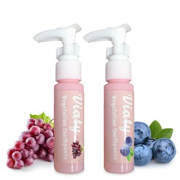 Owoce pasty do zębów z jagodami winogron pasty do zębów do usuwania plam jamy ustnej wybielająca pasta do zębów walki z krwawienie z dziąseł świeże pasty do zębów tanie i dobre opinie Hailicare CN (pochodzenie) Natural Herbal H-04175 30ml 1 Bottle dla dorosłych Blueberry Apple Grape(Optional) Approx 12 3*2 6cm