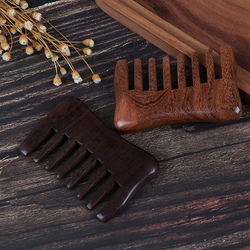 4styles Natural Wood Comb Wooden Wide Tooth Hair Comb Detangler Sandalwood Waist Comb