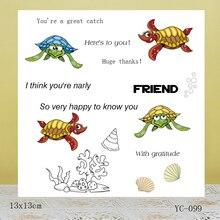 ZhuoAng Big eyes turtle Transparent seal / sealed DIY scrapbook album decoration card seamless
