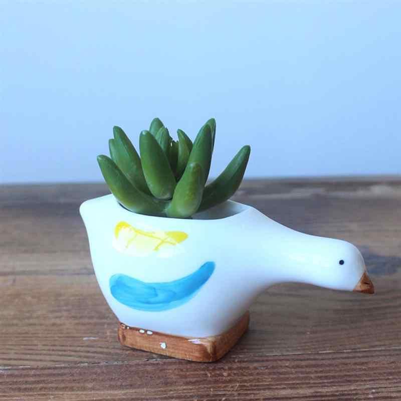 2PCS Blume Topf Blumentopf Seedsplants Cartoon Hund Blumentöpfe Keramik Lagerung Schüssel Nette Sukkulenten Pflanzer Garten Bonsai Versorgung