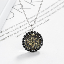 Silvology Original Flower of Life Womens Necklace 925 Sterling Silver Round Zircon Creative Pendant Festival Jewelry