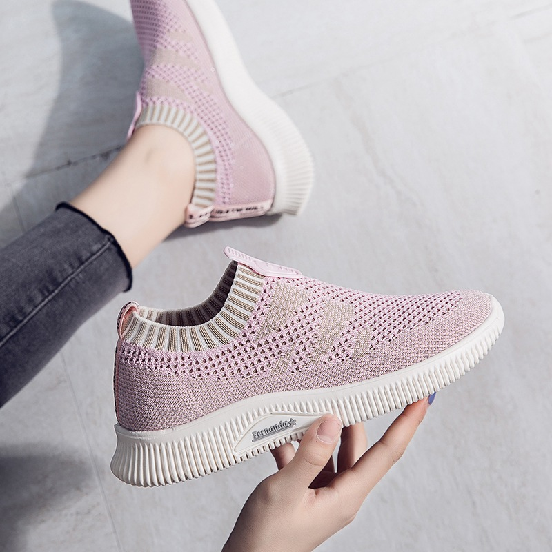 CINESSD Chaussures Femme Knitting Platform Sneakers Women 2020 Summer Shallow Casual Shoes Woman Sneakers Fashion Women's Shoes