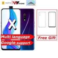 Realme x 4G LTE 4GB 64GB Snapdragon 710 octa core 6.53 calowy ekran 3765 mAh podwójny tylny aparat w telefonie komórkowym