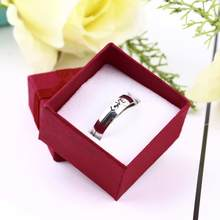 Hot Sale 1 Pcs Small Ring Pendant Gift Lilac Jewelry Ring Gift Display Packaging Bow Box Cardboard Necklace Earrings Ring Box(China)