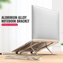 Foldable Laptop Stand Portable Aluminum Alloy Laptop Holder Cooling Bracket Riser Support PC MacBook Pro Air IPad Galaxy