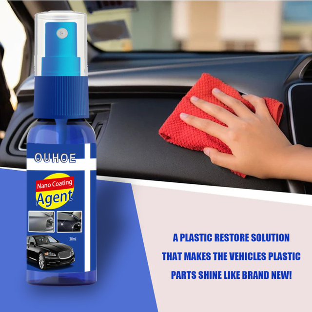 Car Dashboard Maintenance Care Leather Seat Nano Ceramic Coating Upholstery Cleaner Plastic Part Retreading Agent 1