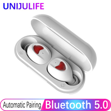 True Wireless Headset Bluetooth Earbuds 50 in-Ear Stereo TWS Stereo Earphones 3D HiFi Stereo Sound With Charging Box