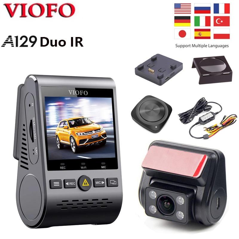 VIOFO A129 Duo IR передний и внутренний двойной видеорегистратор Wi-Fi BT дистанционное управление Full HD 1080P режим парковки Автомобильный видеорегистр...