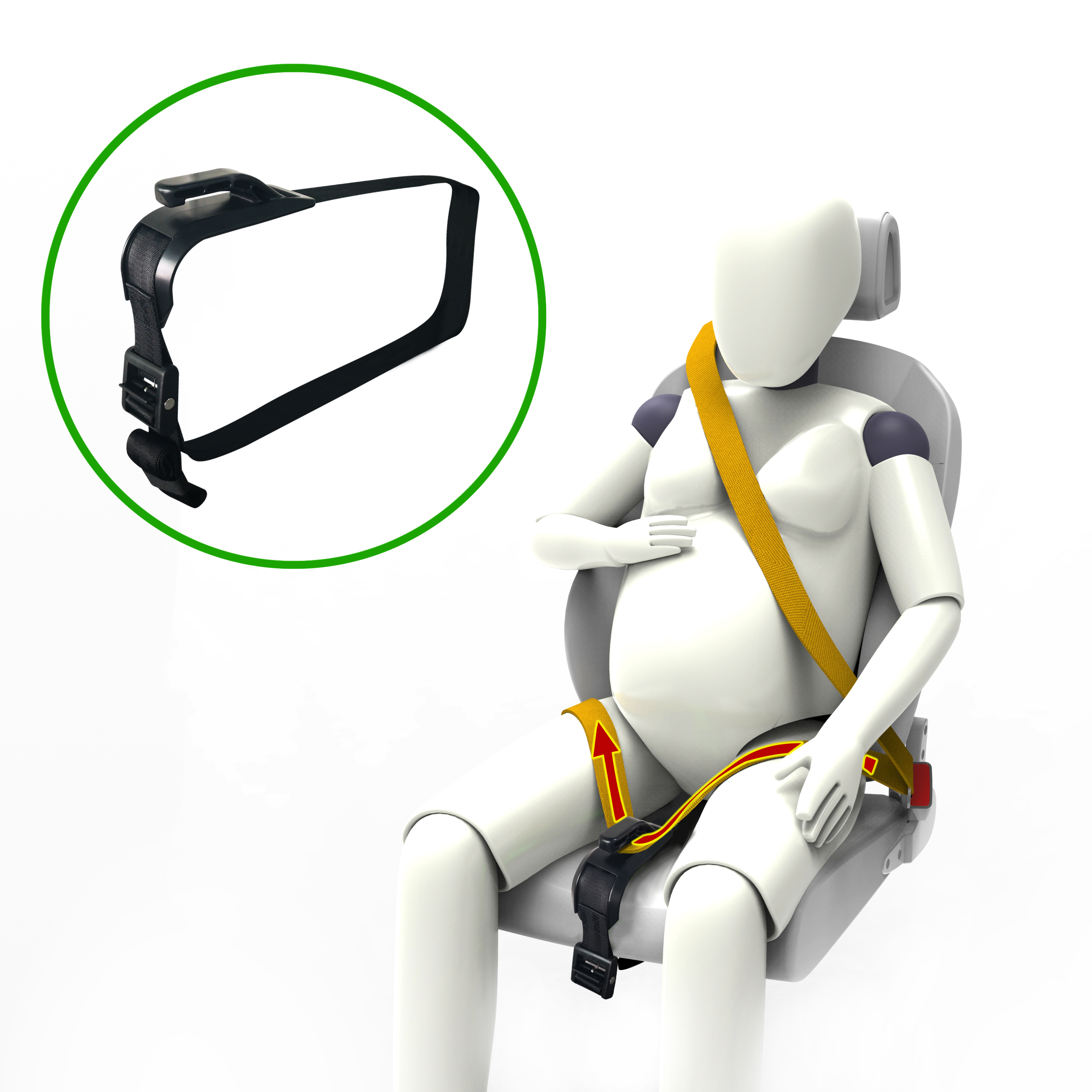 Pregnant Car Seat Belt Adjuster,Comfort And Safety For Maternity Moms Belly,Protect Unborn Baby,free Shipping